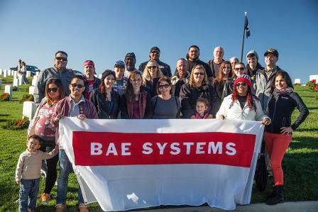 BAE Systems Support Wreaths Across America San Diego 2015